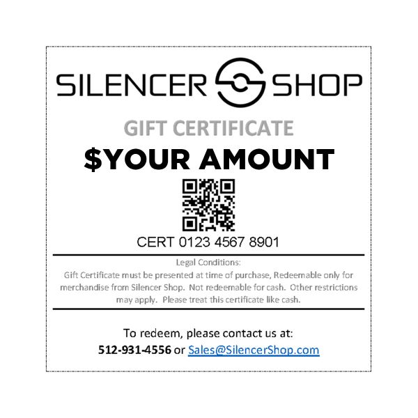 Silencer Shop Gift Certificate